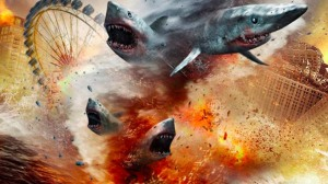 Sharknado - there is so much wrong in this still that it becomes so right...
