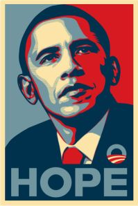 ...and it's obvious reference to the Obama 'Hope' Election Campaign posters