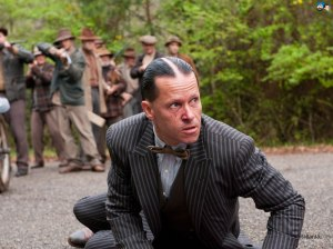 ...and Guy Pearce as Charlie Rakes, the real star of Lawless