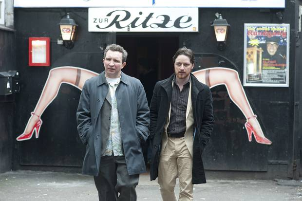 James McAvoy and Eddie Marsan on a business trip to 'Scarborough' - AKA Brothels in Hamburg