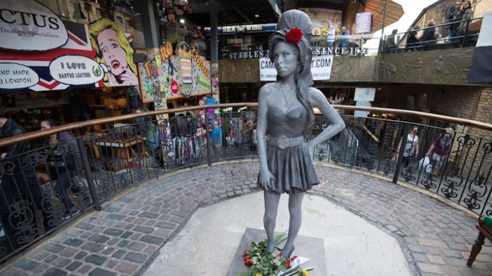 The memorial statue in Camden, the home of Amy, was unveiled last year in 2014